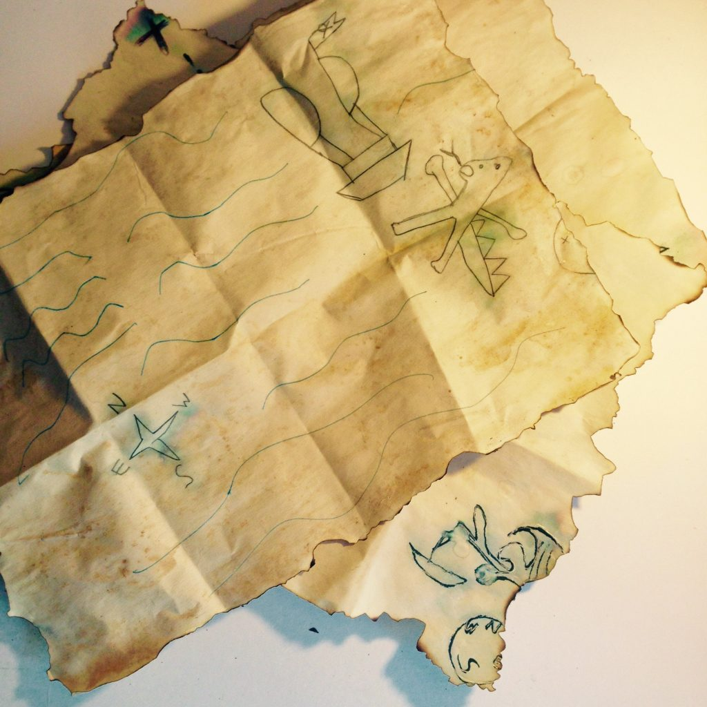 Fold to distress your maps and they are DONE!