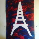 Eiffel Tower Tape Painting - Bastille Day Craft