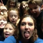 Rebecca being silly with the PYT Juniors (6-8 years)