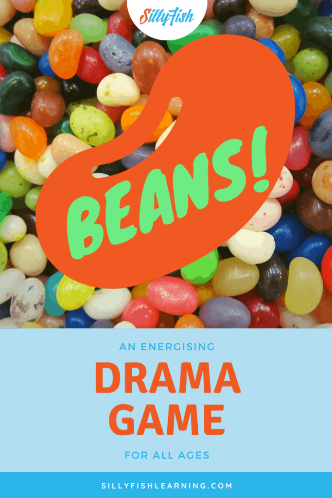 Lots of colourful jelly beans. Beans is an energising drama warmup game which is suitable for all ages.