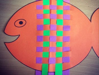 Kid's Craft – Silly Fish Weave with Printable Template!