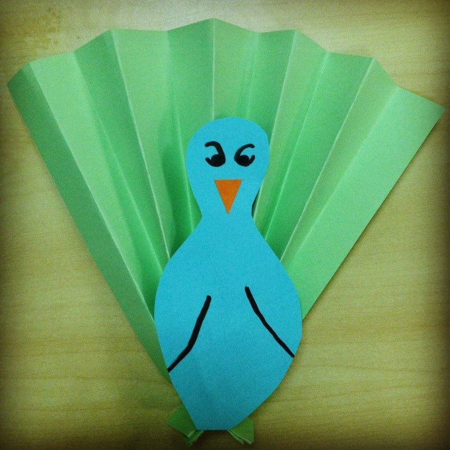 Kid's Craft – Peacock Fan