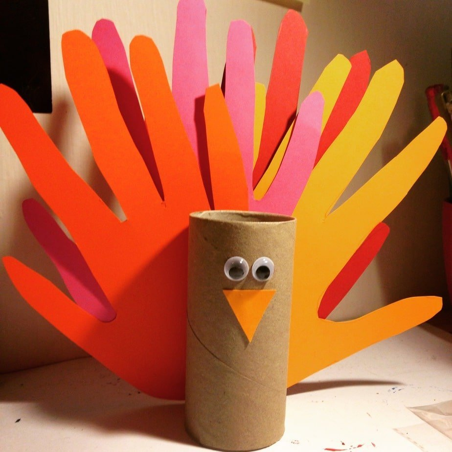 Kid's Craft – Hand Print Turkey