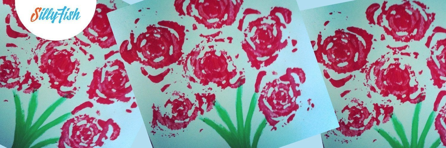 Rose Stamps With Celery | Unexpectedly Beautiful Kid's Craft