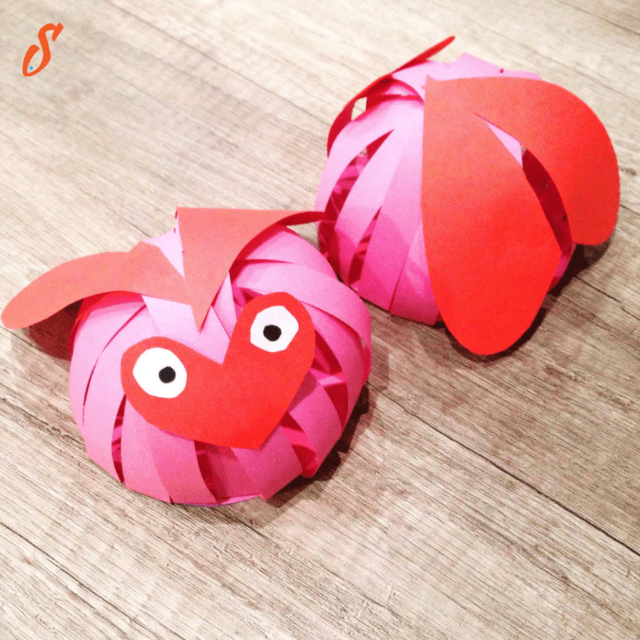 Finished Love Bugs craft