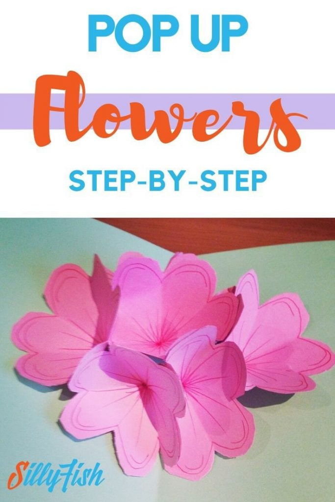 Finished Pop-up Flower Card | Silly Fish Learning