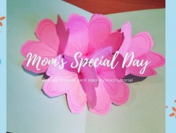 Pop-Up Flowers Card for Mother's Day | Kid's Craft