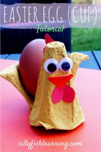 Pinterest image for Silly Fish Learning Easter Egg Cups