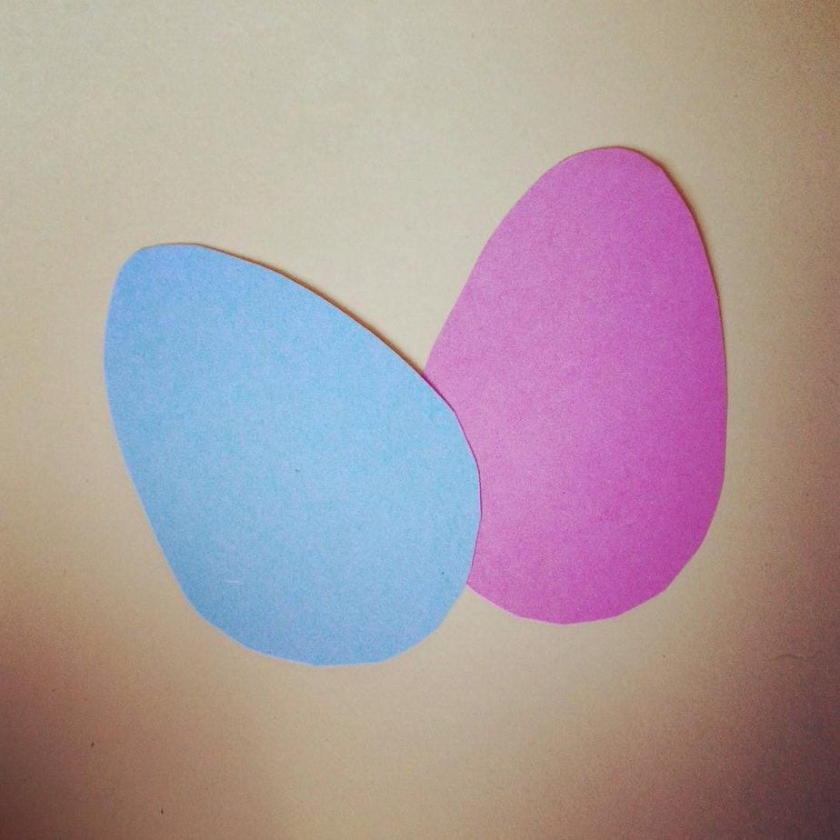 Cut out your eggs. If you would like to decorate them with pens, do this now.