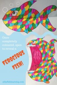 Your finished Ferocious Fish opens his mouth to reveal large teeth!