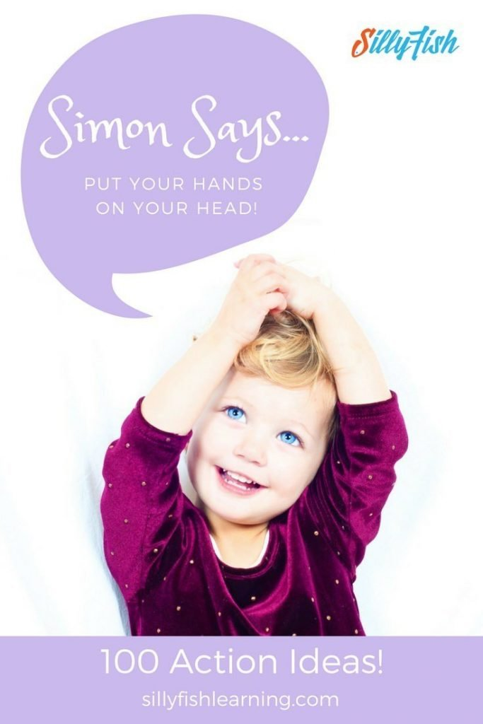 Classic Preschool Drama Game | Simon Says. We've compiled a list of 100 actions for those moments when you're just drawing a blank!