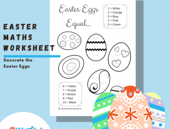 Easter Math Worksheet | Easter Eggs Equal…