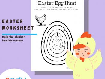 Easter Worksheet | Easter Egg Hunt in the Maze
