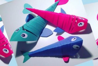 Make a Silly Fish Family of Flexible Fish | Kid's Craft