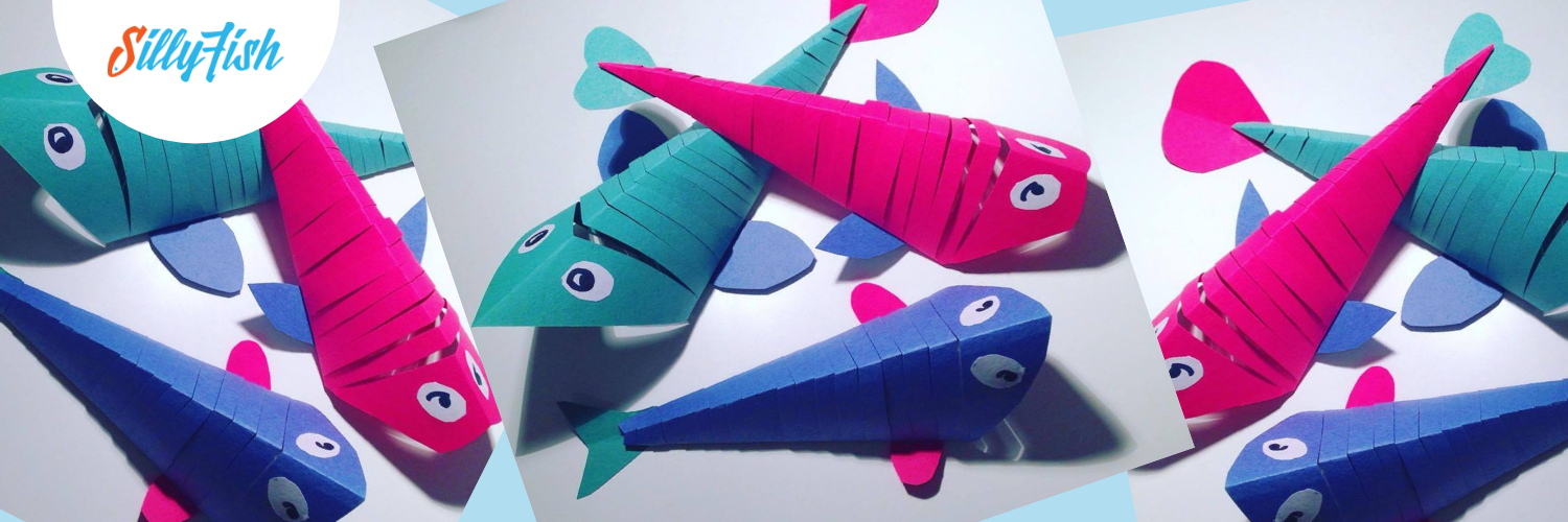 Make a Silly Fish Family of Flexible Fish   Kid's Craft