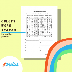 Product image for colors word search