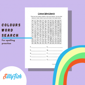 Product image for colours word search