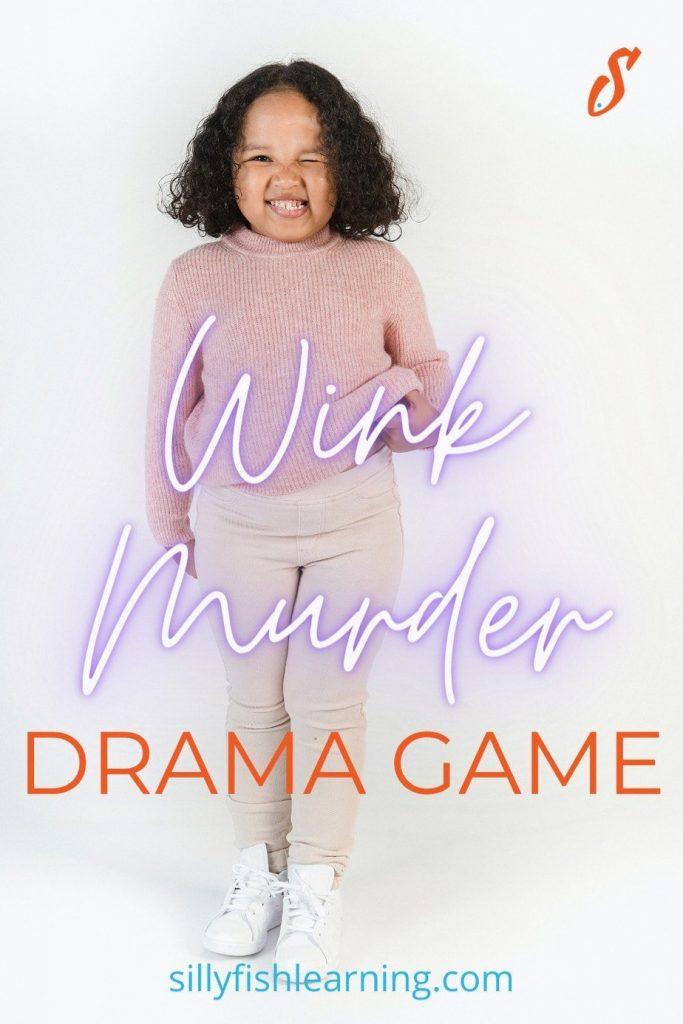 Pinterest pin image for Wink Murder drama game
